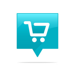 Shopping Cart Icon Tag