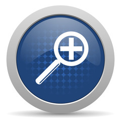 lens blue glossy web icon