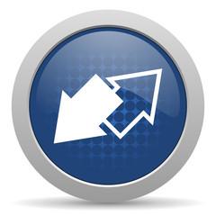 exchange blue glossy web icon
