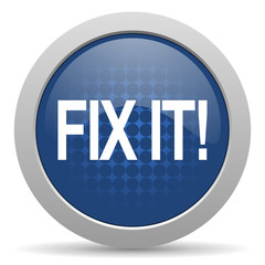 fix it blue glossy web icon