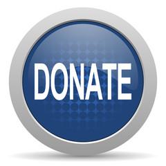 donate blue glossy web icon