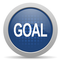 goal blue glossy web icon