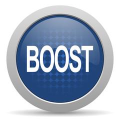 boost blue glossy web icon