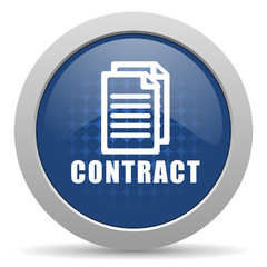 contract blue glossy web icon