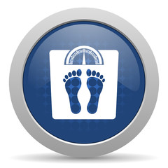 weight blue glossy web icon