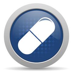 drugs blue glossy web icon