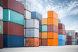 container against a blue sky - 81742641