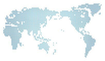 世界地図・ドット素材・丸ドット