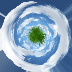 Abstract grassy globe image