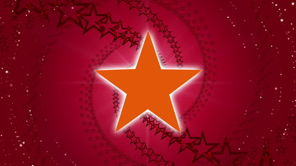 red abstract loop motion background, star