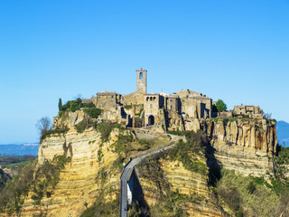 Civita di Bagnoregio view from the bridge