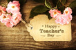 Happy Teachers Day message with pink roses - 81744066