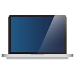 Modern Laptop Computer Glass Screen