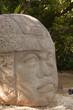 Olmec stone carving Colossal Head in La Venta park, Villahermosa, Tabasco, Mexico - 81744827