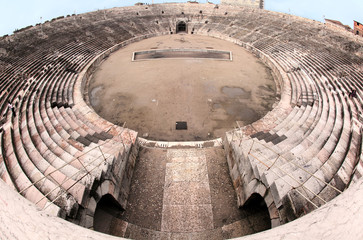 ancient arena of Verona in Italy