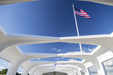 USS Arizona Structure and Flag