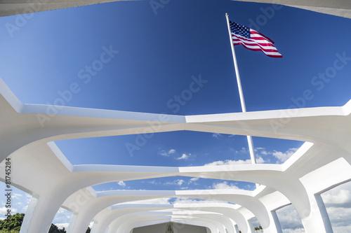 USS Arizona Structure and Flag - 81745284