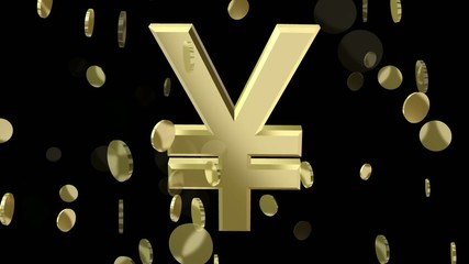 rotating symbol currency yen