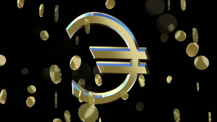 rotating symbol currency euro