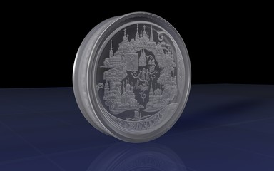 commemorative silver coin 200 rubles city of Yaroslavl. Russia