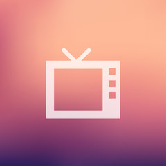 Retro television in flat style icon
