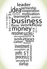 Wordcloud business lightbulb