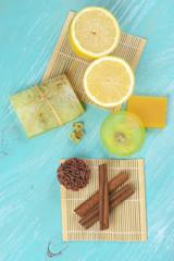 Various natural soaps