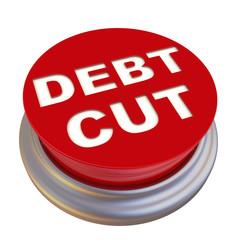 Сократить долг (debt cut). Красная кнопка с надписью