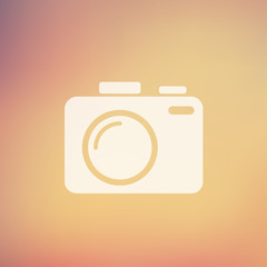 SLR Camera in flat style icon