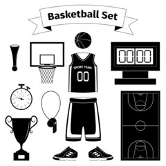 Basketball equipment set