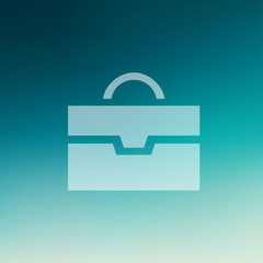 Briefcase in flat style icon