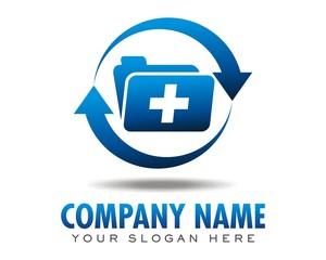 medicine cure healing logo image vector
