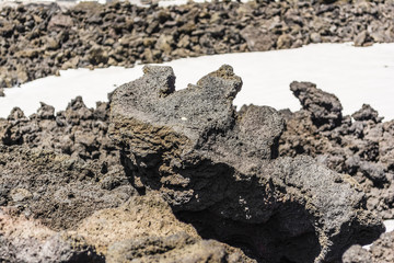 Volcanic rock closeup on Etna, Sicily, Italy