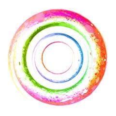 watercolor spiral, grunge