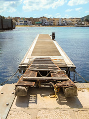 Favignana harbor in the early spring, Sicily