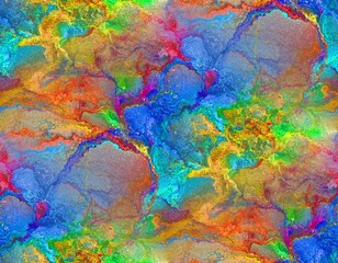 Seamless colorful background in blue, red, green and yellow