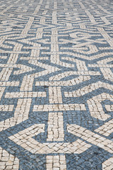 portugal abstract tile pavement patterns as a background