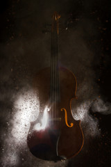 Silhouette of a violin