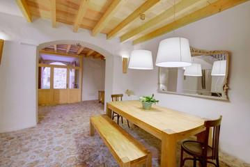 Majorca Balearic indoor house in Balearic Mediterranean style