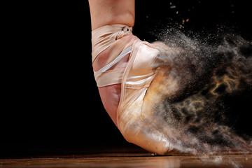dancer in ballet shoes