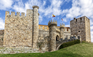 Home or main entrance of Templar castle in Ponferrada, the Bierz