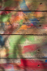 Background of colored wood