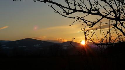 Sonnenuntergang in der buckligen Welt