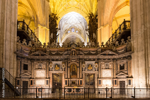interior of Cathedral of Seville, Andalusia, Spain - 81750043