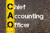 Business Acronym CAO – Chief Accounting Officer poster
