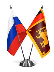 Russia and Sri Lanka - Miniature Flags.