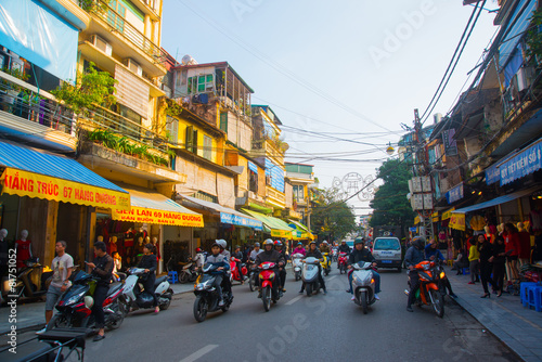 Deurstickers Overige Asia. The Capital Of Vietnam. Street in Hanoi.