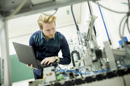 Leinwanddruck Bild Engineer in the factory