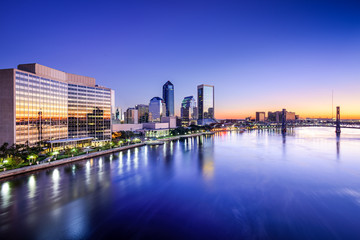 Jacksonville, Florida Cityscape on the River