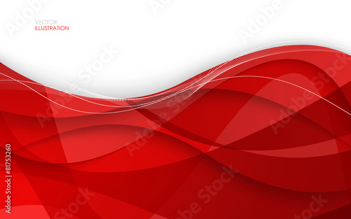 Abstract red background. Vector Illustration - 81753260